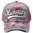 Baseball sapka női Hungary feliratos, virágos Lilla-D