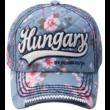 Baseball sapka női Hungary feliratos, virágos Lilla-E