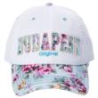 Női baseball sapka Budapest feliratos, virágos Judit-A
