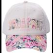Női baseball sapka Budapest feliratos, virágos Judit-B