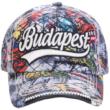 Férfi baseball sapka Budapest feliratos, graffiti mintás Vilmos-B