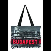 Válltáska női Budapest feliratos és fényképes Emese-G