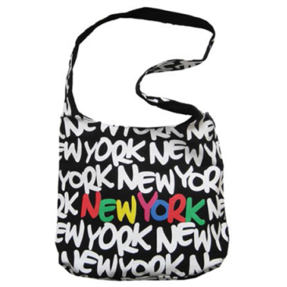 Oldaltáska női New York feliratos Eva L-NY-X