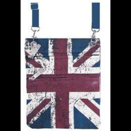 Útlevéltáska unisex Union Jack mintás Charlie Dark U-F