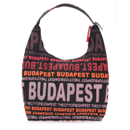 Válltáska női Budapest feliratos Sára-J