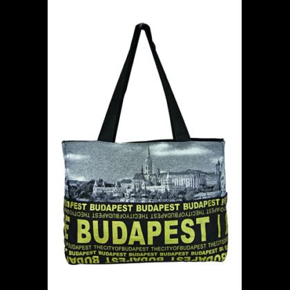 Válltáska női Budapest feliratos és fényképes Emese-A