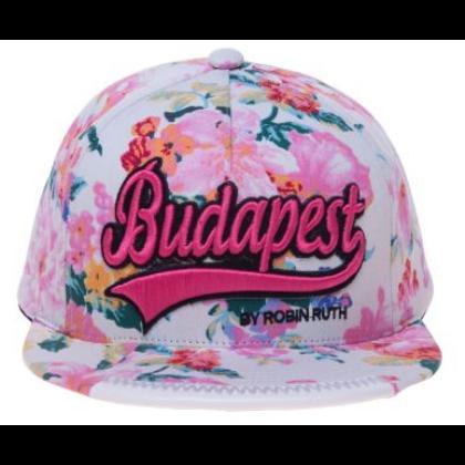 Női baseball sapka Budapest feliratos színes, virágos Lilla-B