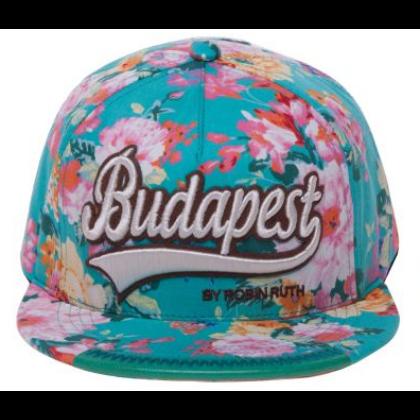Női baseball sapka Budapest feliratos színes, virágos Lilla-C