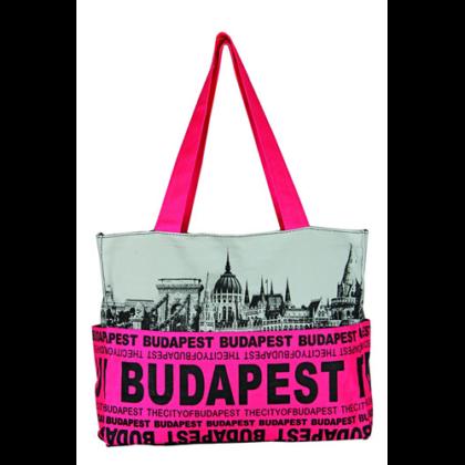 Válltáska női Budapest feliratos és fényképes Emese-J