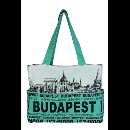 Válltáska női Budapest feliratos és fényképes Emese-I