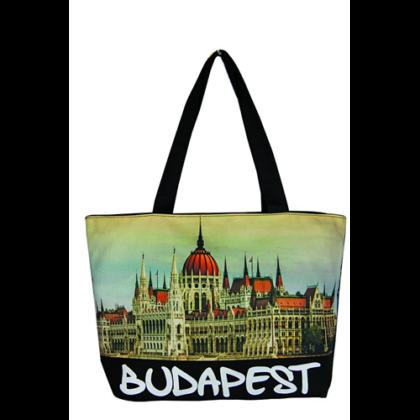 Válltáska női Budapest feliratos és fényképes Lenke-A