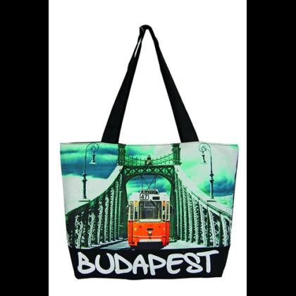 Női táska Budapest feliratos és fényképes Lenke-C