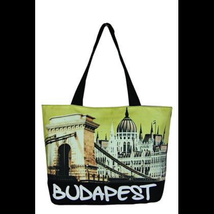 Válltáska női Budapest feliratos és fényképes Lenke-B
