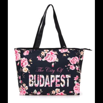 Női táska Budapest feliratos Laura-A