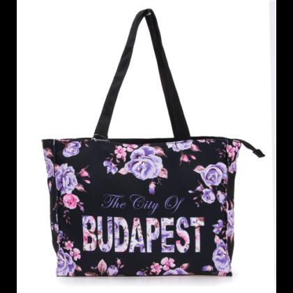 Válltáska női Budapest feliratos Laura-B