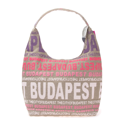 Válltáska női Budapest feliratos Sára-D
