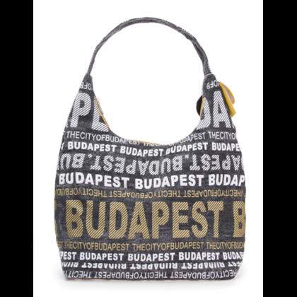 Válltáska női Budapest feliratos Sára-E