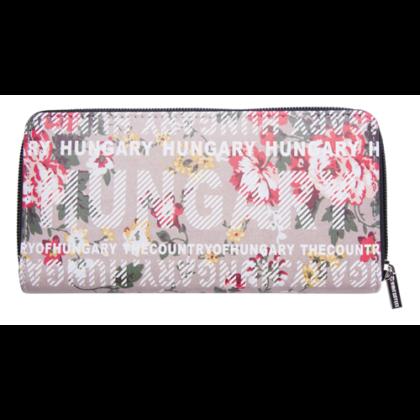 Pénztárca Hungary feliratos, virágos Panni-A