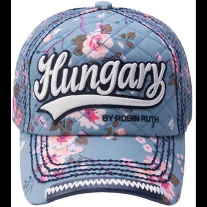 Női baseball sapka Hungary feliratos színes, virágos Lilla-E