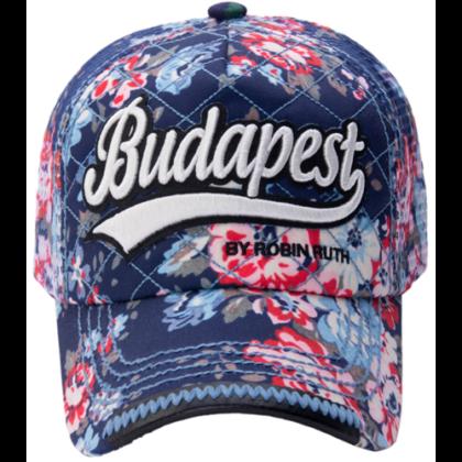 Női baseball sapka Budapest feliratos színes, virágos Lilla-F