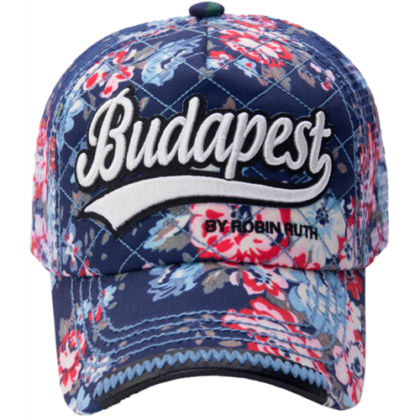 Baseball sapka női Budapest feliratos, virágos Lilla-F