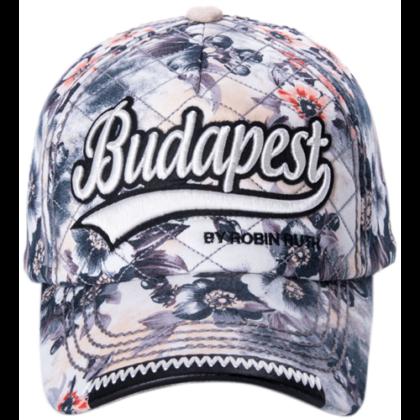 Női baseball sapka Budapest feliratos színes, virágos Lilla-I