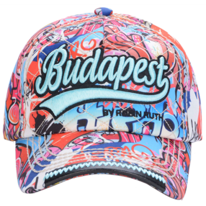 Férfi baseball sapka Budapest feliratos, graffiti mintás Vilmos-A