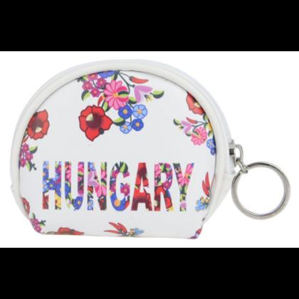 Pénztárca női Hungary feliratos, kalocsai mintás Flóra-A