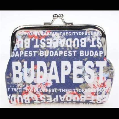 Pénztárca női Budapest feliratos, virágos Ágota-E