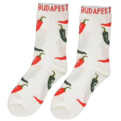 Zokni női Budapest feliratos Júlia-C