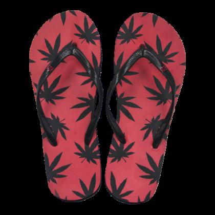 Női strandpapucs cannabis mintás Zsanett-B S