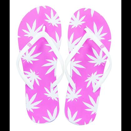 Női strandpapucs cannabis mintás Zsanett-C S