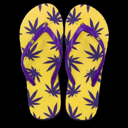 Női strandpapucs cannabis mintás Zsanett-D S
