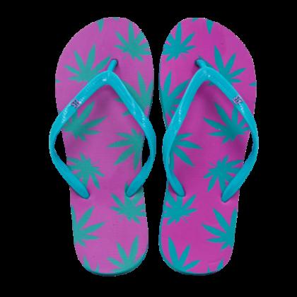 Női strandpapucs cannabis mintás Zsanett-E S