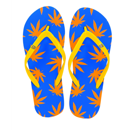 Női strandpapucs cannabis mintás Zsanett-F S