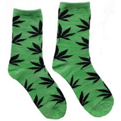 Női zokni cannabis mintás Kitty-J