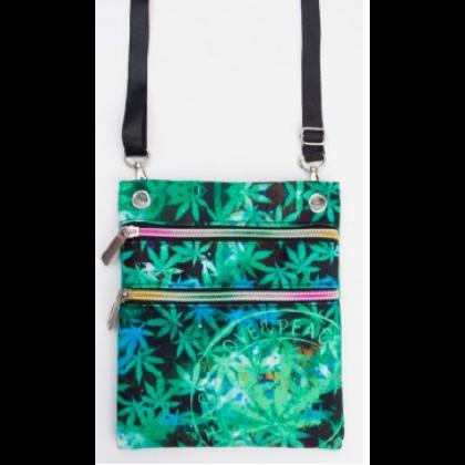 Útlevél táska cannabis mintás László-B