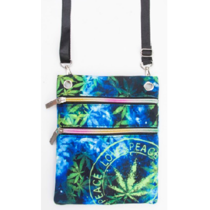 Útlevél táska cannabis mintás László-C