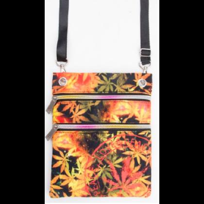 Útlevél táska cannabis mintás László-D