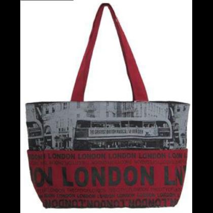 Női táska London feliratos és fényképes Holly L-L-A