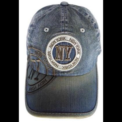 Unisex baseball sapka New York feliratos Jim Denim NY-B