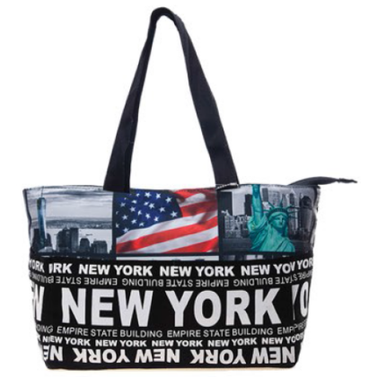 Női táska New York feliratos és fényképes Holly L- NY-Q