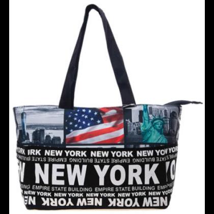 Válltáska női New York feliratos és fényképes Holly L- NY-Q