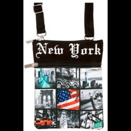 Unisex útlevél táska New York feliratos és fényképes Ole S-NY-Q