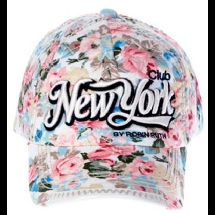 Női baseball sapka New York feliratos és virág mintás J.J- NY-A