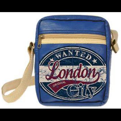 Férfi útlevél táska London feliratos Toby Wanted L-B