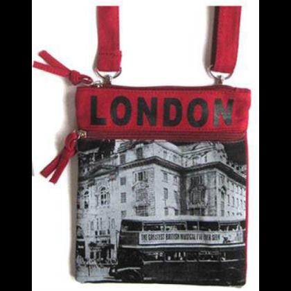 Női útlevél táska London feliratos és fényképes Hanna S-L-A