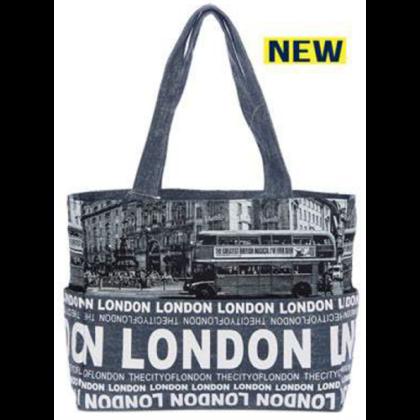 Női táska London feliratos és fényképes Holly L-L-E