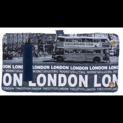 Pénztárca unisex London feliratos és fényképes Grace L-B
