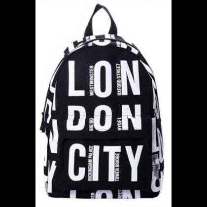 Unisex hátizsák London feliratos Finn L-A
